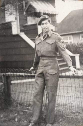 Young Ming (James) Wong of Force 136. Circa 1944 Vancouver