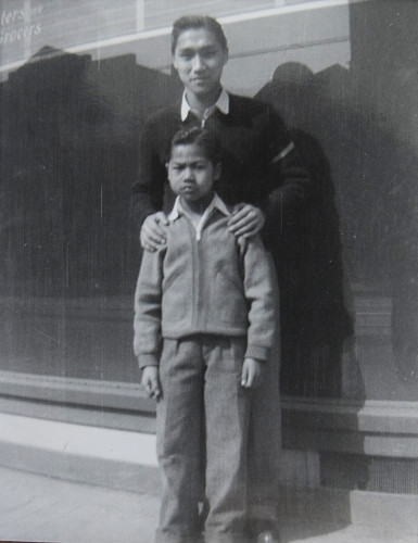 Quon Louie with his younger brother Willis. After Quon's death, Willis retraced his brother's journey through Europe.