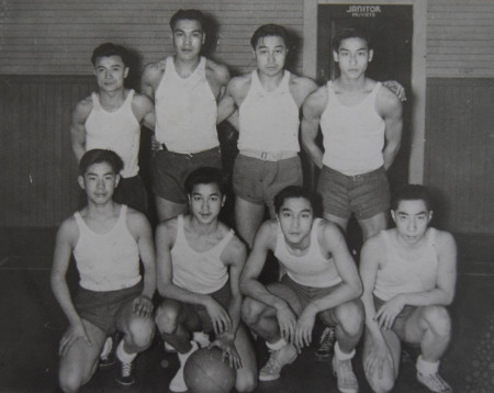 Quon Louie, front row second from right, with his champion soccer teammates