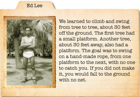 Ed Lee recalls some of his training.