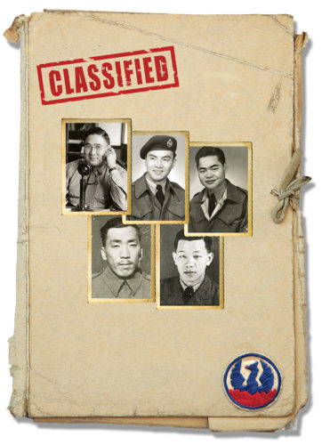 Captained by Roger Cheng, these Force 136 men spent several months behind enemy lines in Borneo. (Top, LtoR): Roger Cheng; Norman Lowe; Louie King; Roy Cha; Daniel Shiu.