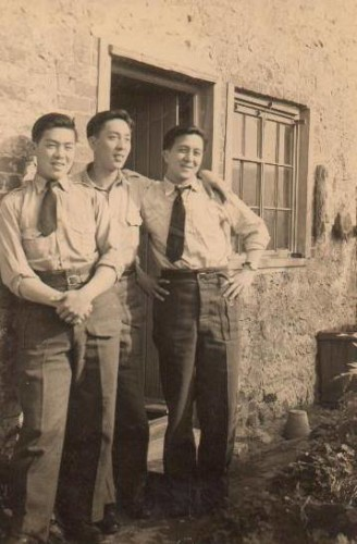 Lee brothers of Windsor - Ben (L), Peter and Edward