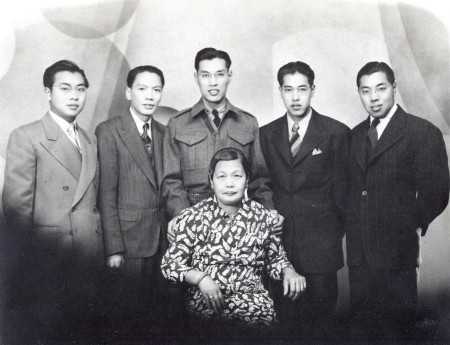 Ronald Lee with mother and siblings.