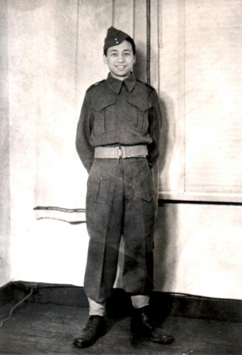 Roy Mah in uniform