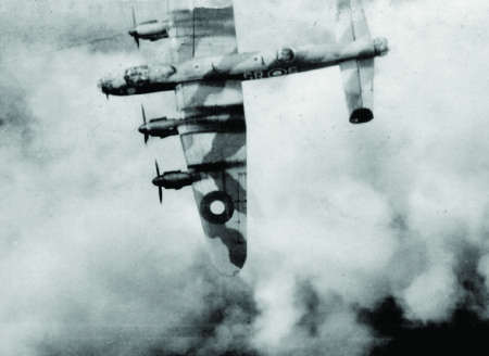 Photo of the Lancaster SRS just hours before it is shot down.
