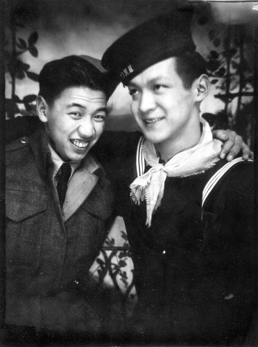 Sammy Soong (L) with Bill Marr