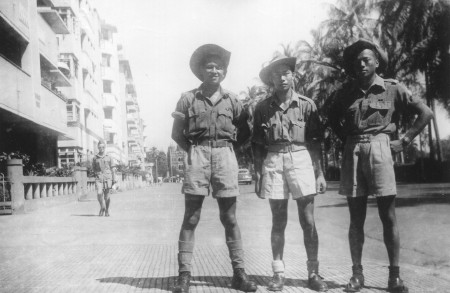 Victor W. Wong (L) with Leonard Lee and Dick Yip in India.