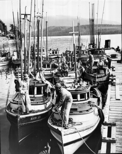 Confiscated Japanese gillnetters
