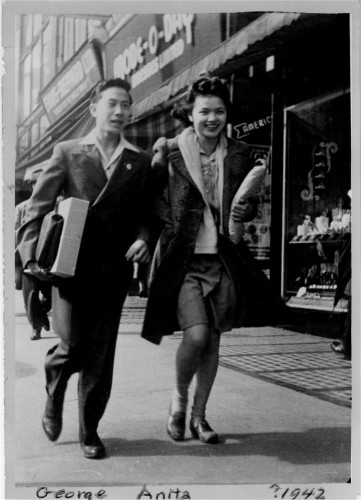 George SL Wong with his girlfriend (later wife) Anita Davida Joh.