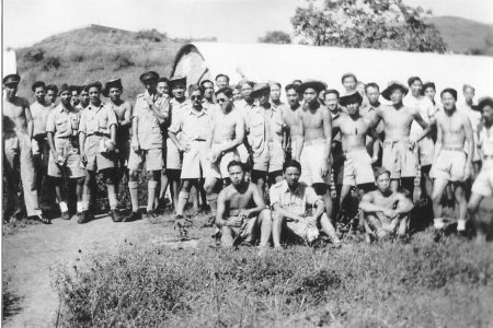 Chinese Canadians of Force 136 training near Poona, India